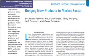 Bringing new products to market faster
